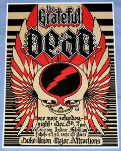 12/08/73 concert poster